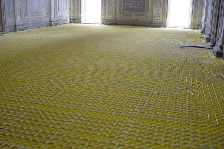 Impianto di riscaldamento a pavimento Palazzo Provincia Cosenza